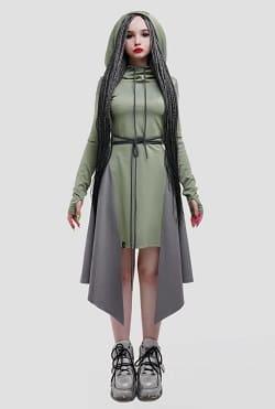 платье-туника из джерси Assassin Green
